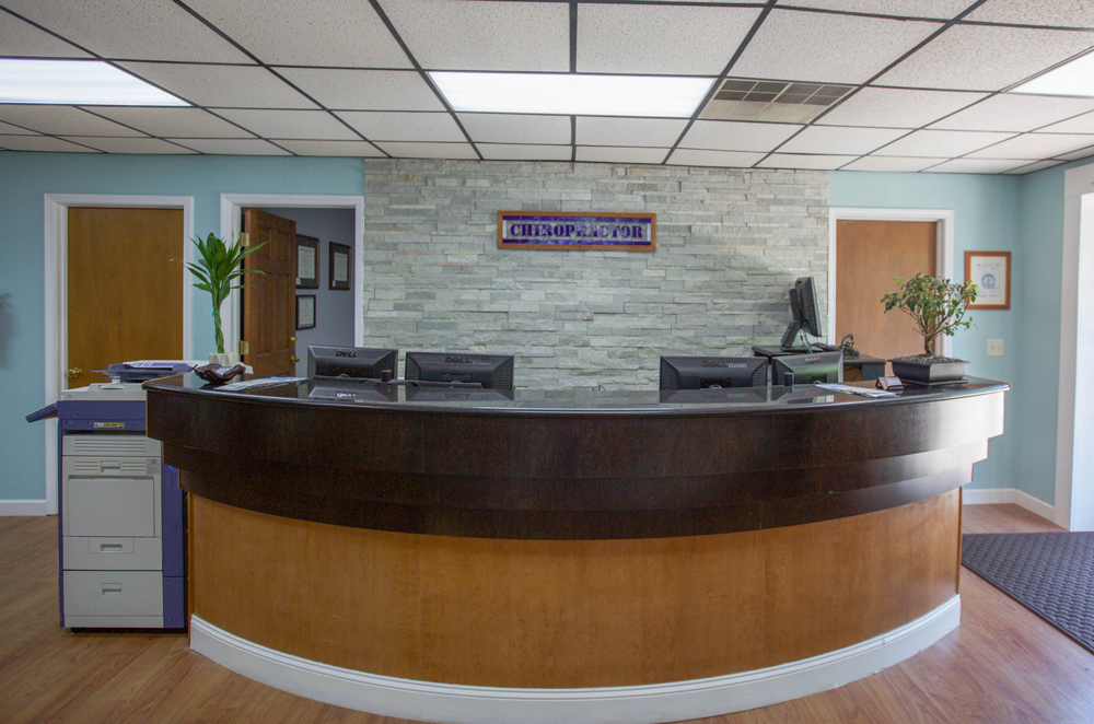 Chiropractic Professionals of Columbia's Reception Desk
